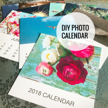 The 2018 DIY Photo Calendar Template
